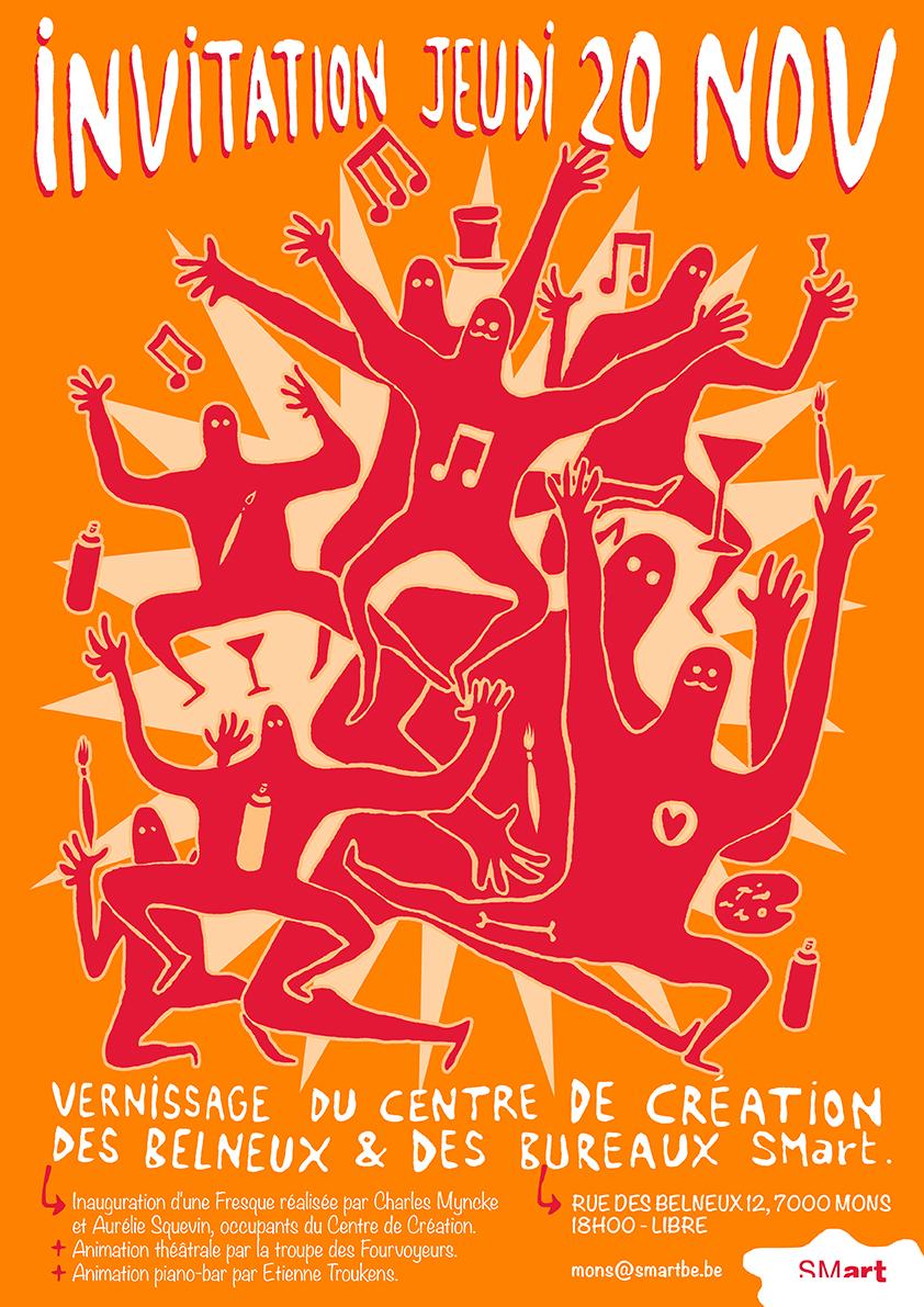 Invitation Ouverture Du Centre De Creation Des Belneux Mons 20 11